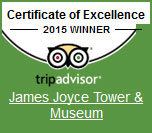 James Joyce Tower Trip Advisor Certificate fo Excellence Winner 2015